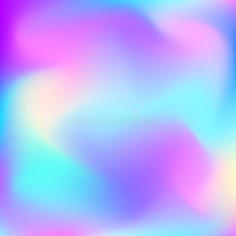 Flüssiger Hintergrund des abstrakten Vektors Bild in Blauem, in Purpurrotem, Rosa und gelbe Farben Schablone für Ihren Dekor und  stock abbildung