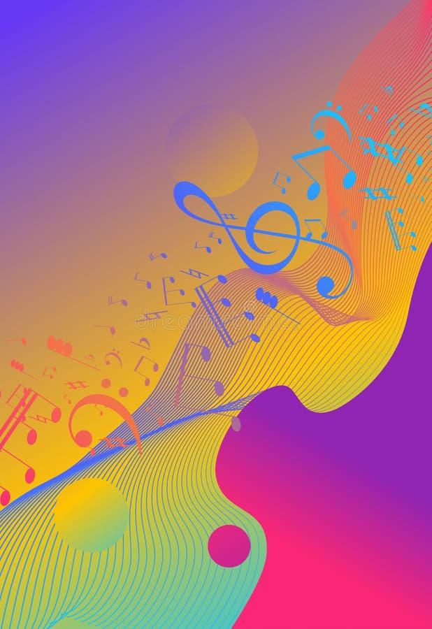 Flüssiger Hintergrund des Regenbogens Schillernder moderner Entwurf Musikmehrfarbenplakat Flüssiges Muster Regenbogenstreifen Wel stock abbildung