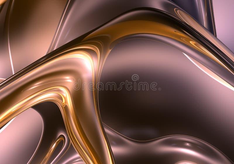 Flüssiger Metallhintergrund 01 stock abbildung