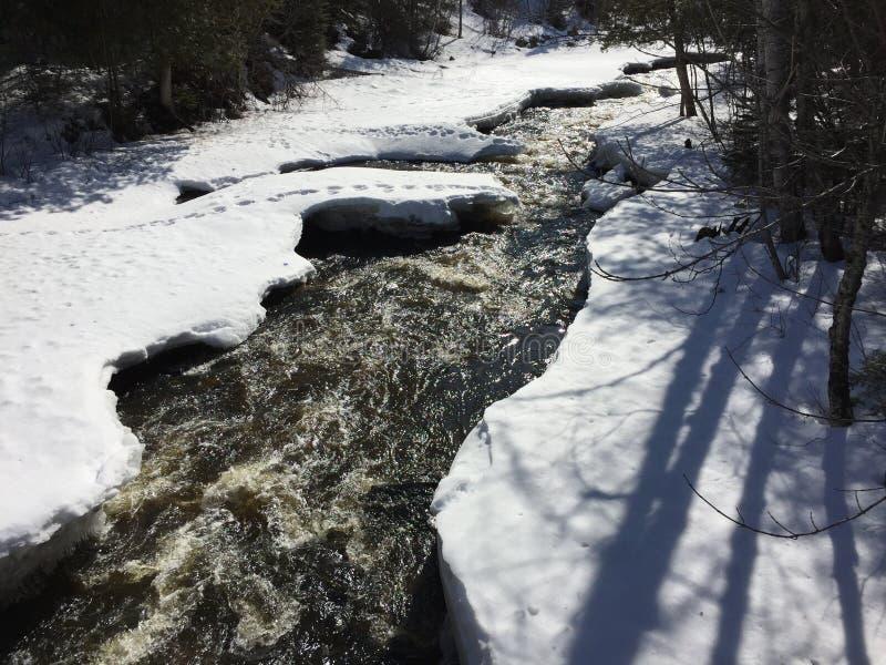 Flüssiger Nebenfluss des Winters lizenzfreie stockbilder