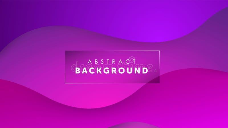 Flüssiger purpurroter Hintergrund der Steigung Farb Flüssigkeit formt futuristisches Konzept Kreative gewellte Tapete Design f?r  lizenzfreie abbildung