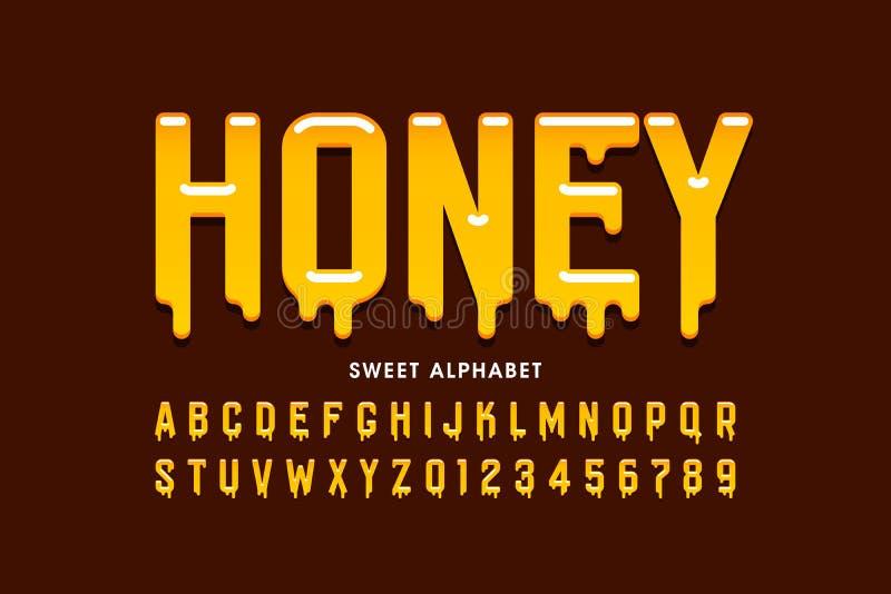 Flüssiger süßer Honigguß lizenzfreie abbildung
