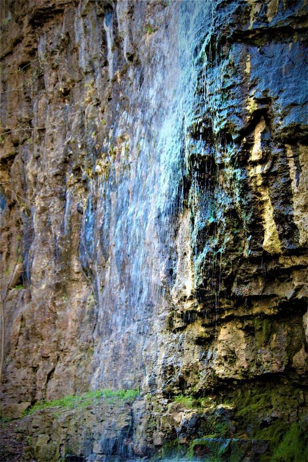 Flüssiger Wasserfall in Ohio stockfoto