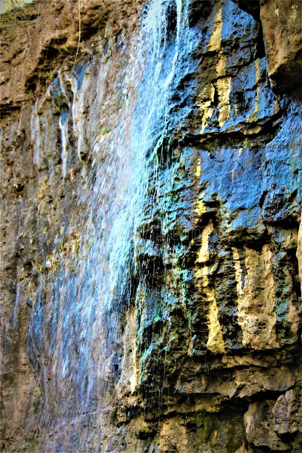 Flüssiger Wasserfall in Ohio lizenzfreie stockfotos