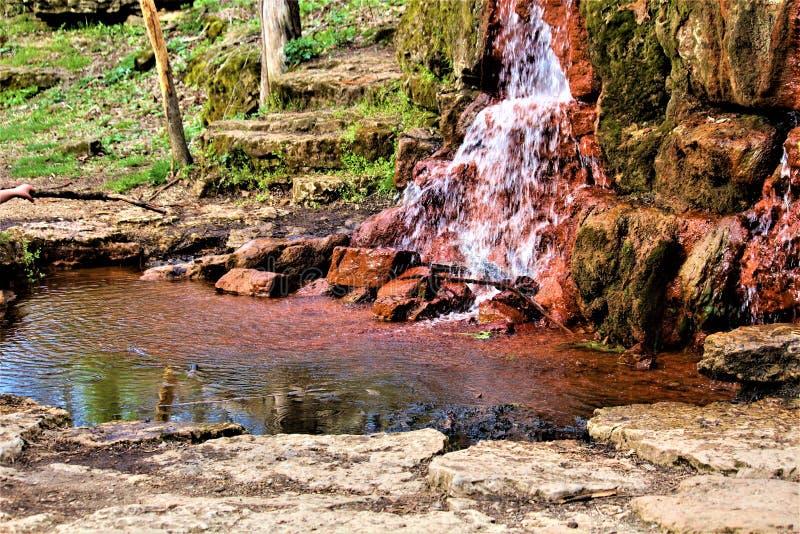 Flüssiger Wasserfall in Ohio lizenzfreies stockbild