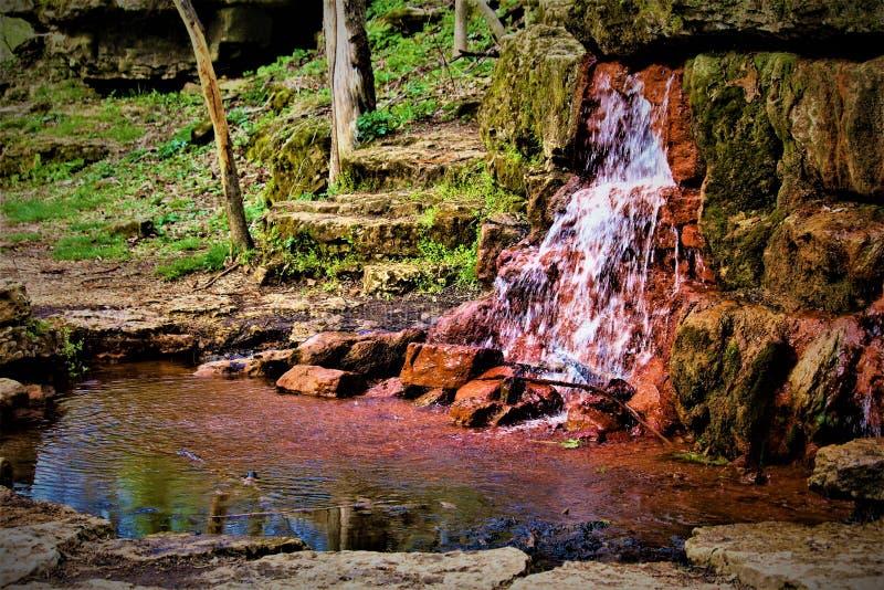 Flüssiger Wasserfall in Ohio stockbilder