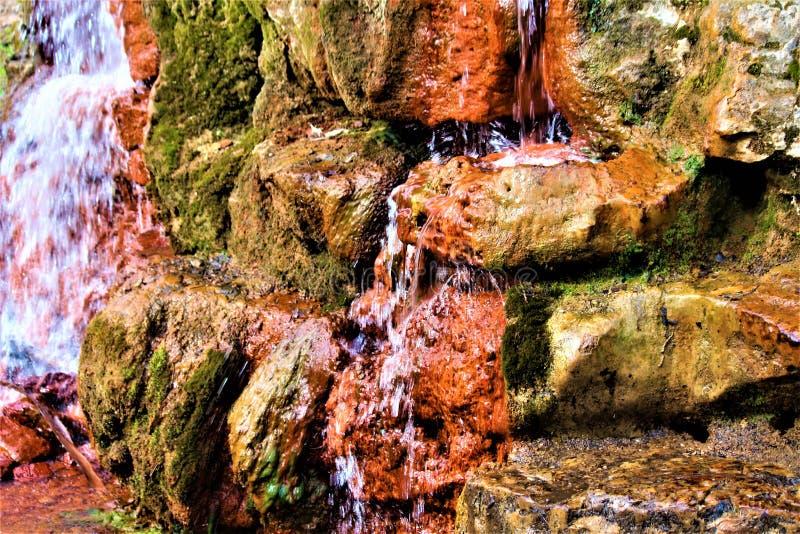 Flüssiger Wasserfall in Ohio lizenzfreies stockfoto