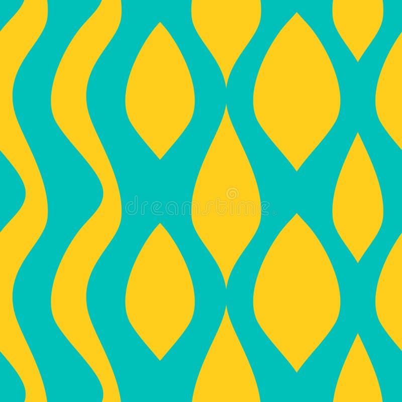 Flüssiges buntes Muster der Welle Nahtlose modische Farbhintergrund-Vektorillustration bereit zur Modetextildruckzusammenfassung stock abbildung