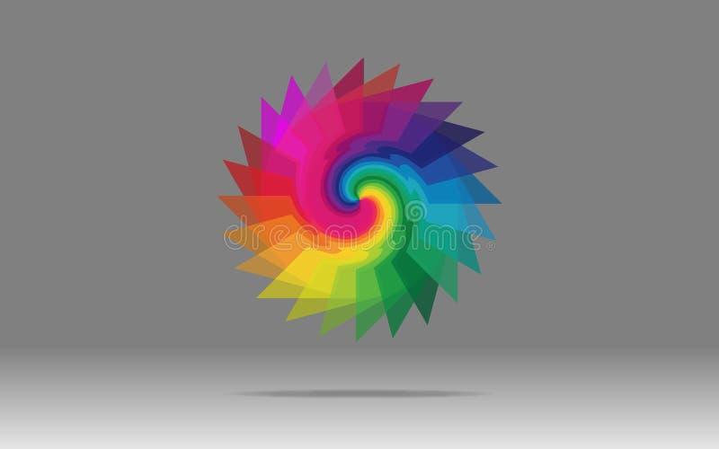 Flüssiges Farben-Zeichen vektor abbildung