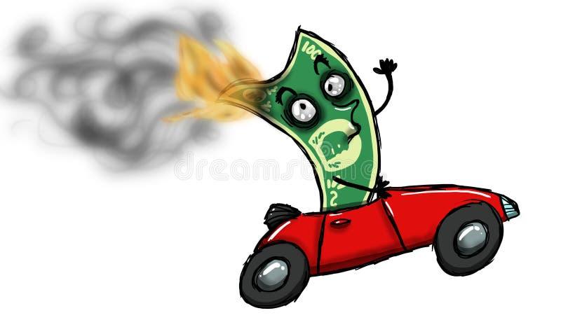Flüssiges Geld stock abbildung