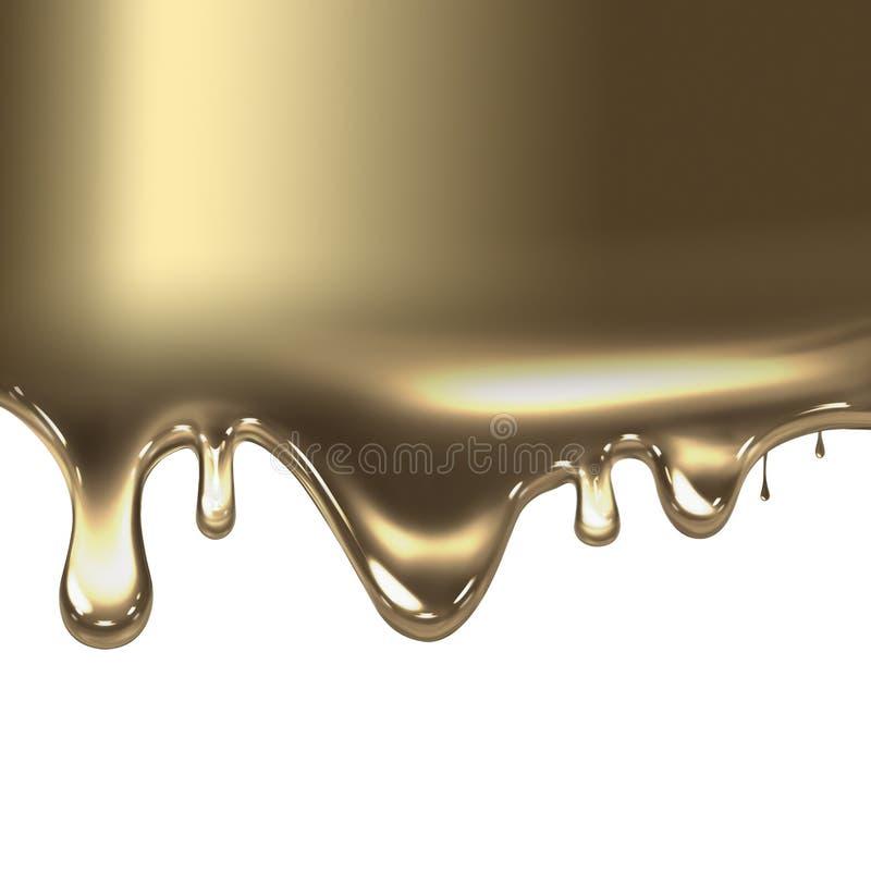 Flüssiges Gold vektor abbildung