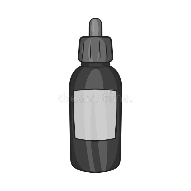 Flüssigkeit für elektronische Zigarettenikone stock abbildung