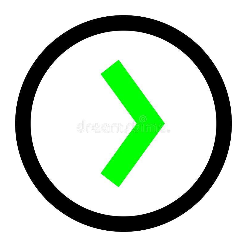 Fl?che droite dans le vecteur de cercle ic?ne lin?aire de vecteur d'illustration Ligne avec le symbole editable de course illustration de vecteur