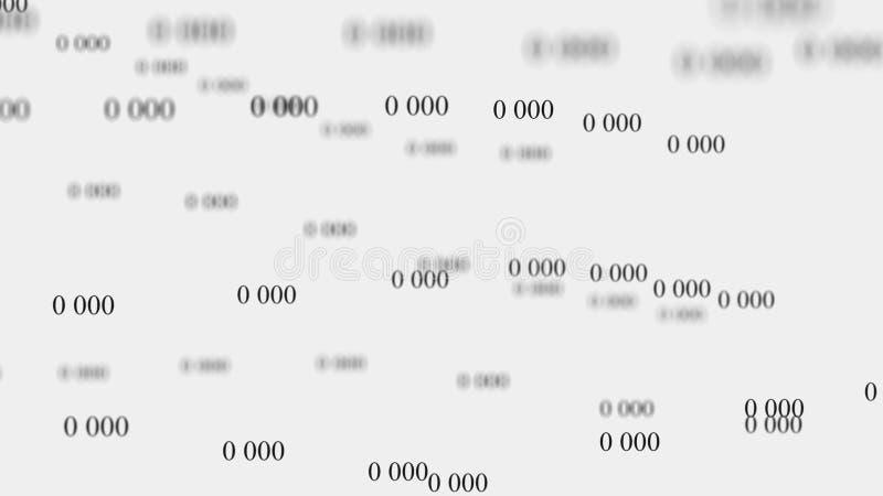 Fl?de av noll Digital bakgrundsmatris framf?rande 3d bin?r kod f?r bakgrund programmering Reng?ringsdukb?rare vektor illustrationer