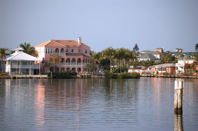 fl kanałowy fort Myers front domu obrazy stock