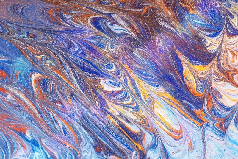 Fl?ssige abstrakte fl?ssige Kunstillustration Acrylfarbe auf canva vektor abbildung