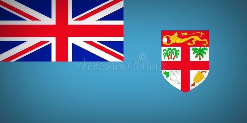 Fla Fiji royalty ilustracja