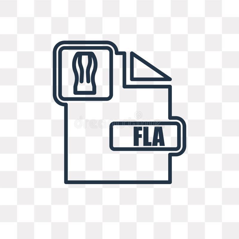 Fla wektorowa ikona odizolowywająca na przejrzystym tle, liniowy Fla t ilustracji
