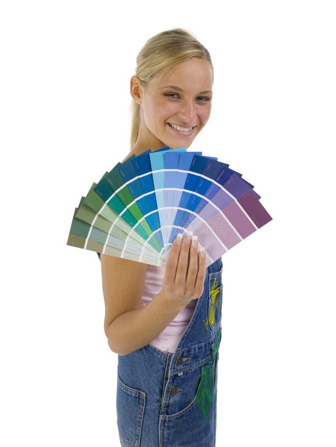 Flabel von Farben stockfotografie