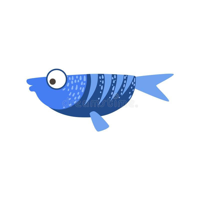 Flach blaue und dunkelblaue fantastische bunte Aquarium-Fische, tropisches Riff-Wassertier vektor abbildung