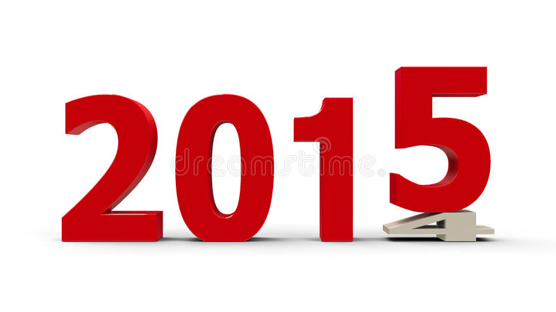 2014-2015 flach gedrückt vektor abbildung
