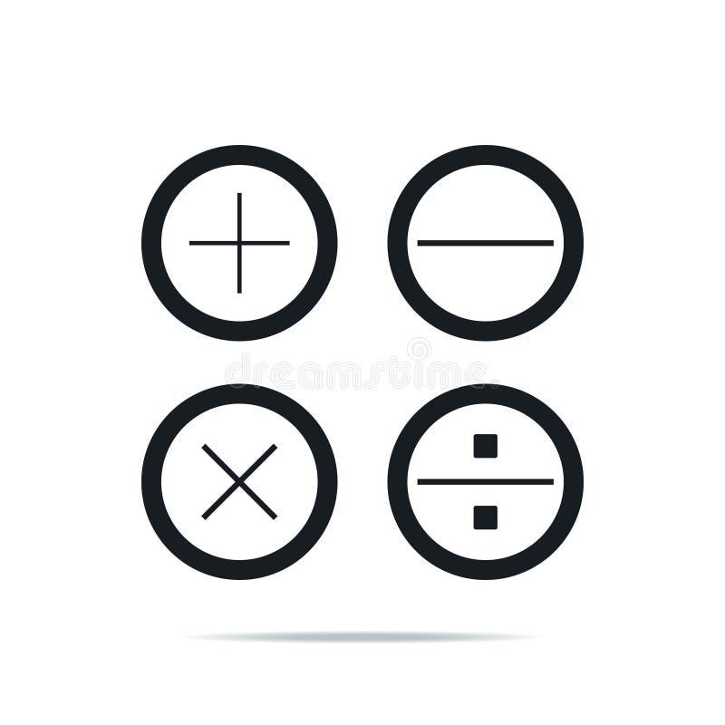 Flachbildrechner Einmaliges, qualitativ hochwertiges Umrisssymbol für die Berechnung von Webdesign oder Mobilapplikationen Thin L stock abbildung