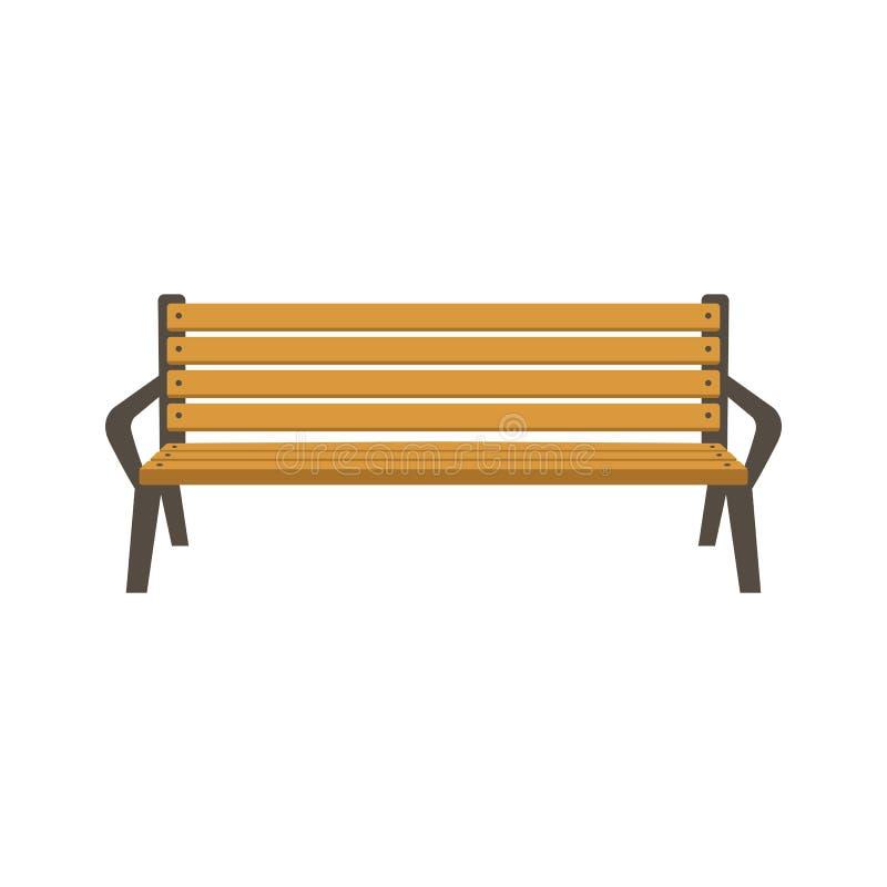 Flache Art der Parkbank-Vektorillustration stock abbildung