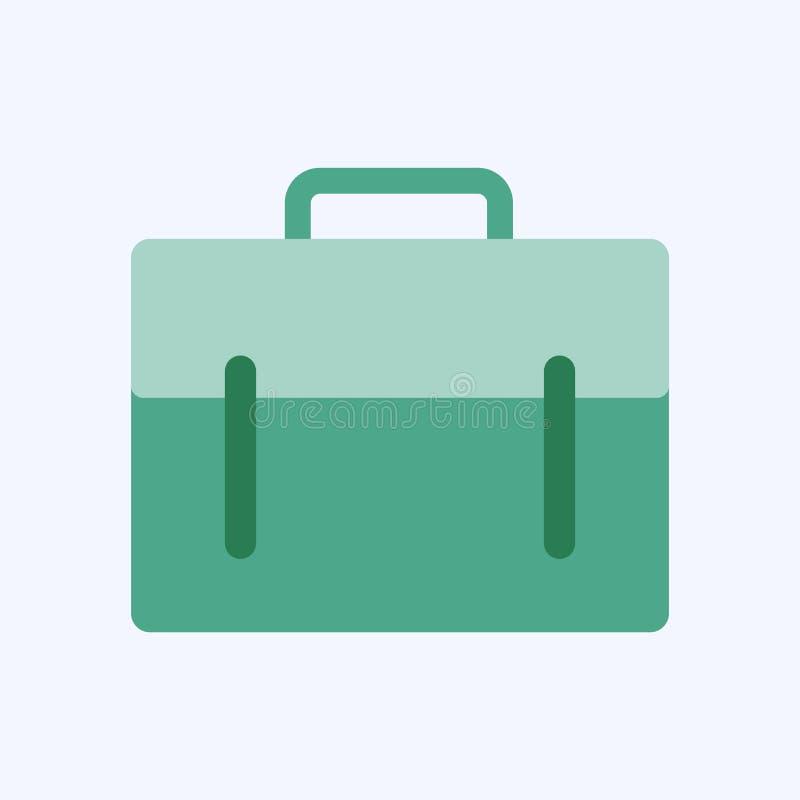 Flache Art des Geschäftsaktenkoffers lokalisiert stock abbildung