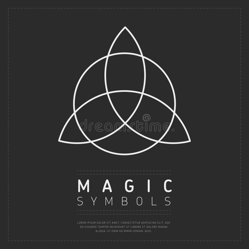 Flache Art des magischen Symbols stock abbildung