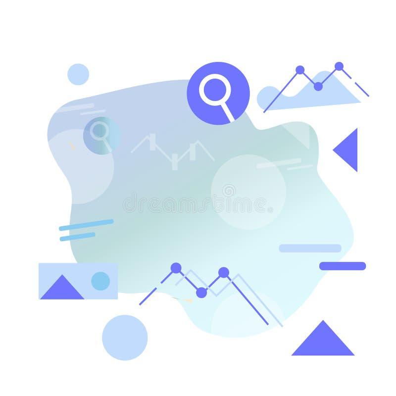 Flache Art Infographics Illustration in der einfachen minimalen geometrischen flachen Art lizenzfreie abbildung