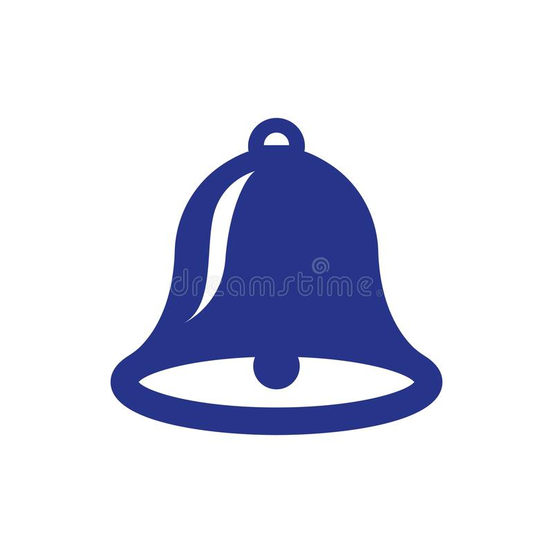 Flache Designart der Bell-Ikonenvorratvektorillustration lizenzfreie abbildung