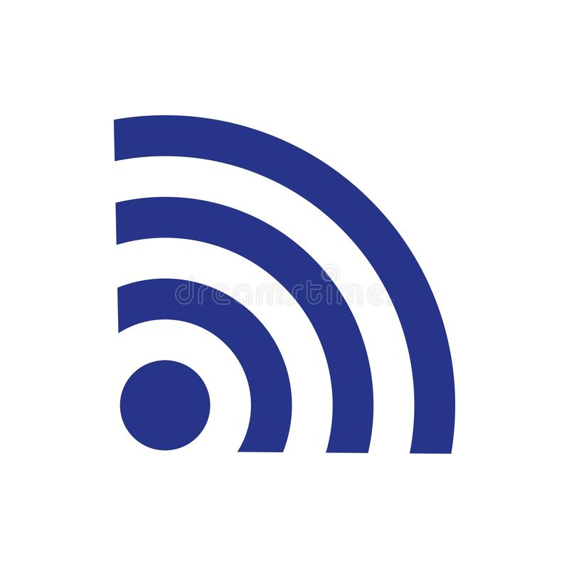 Flache Designart der Wifi-Ikonenvorratvektorillustration stock abbildung