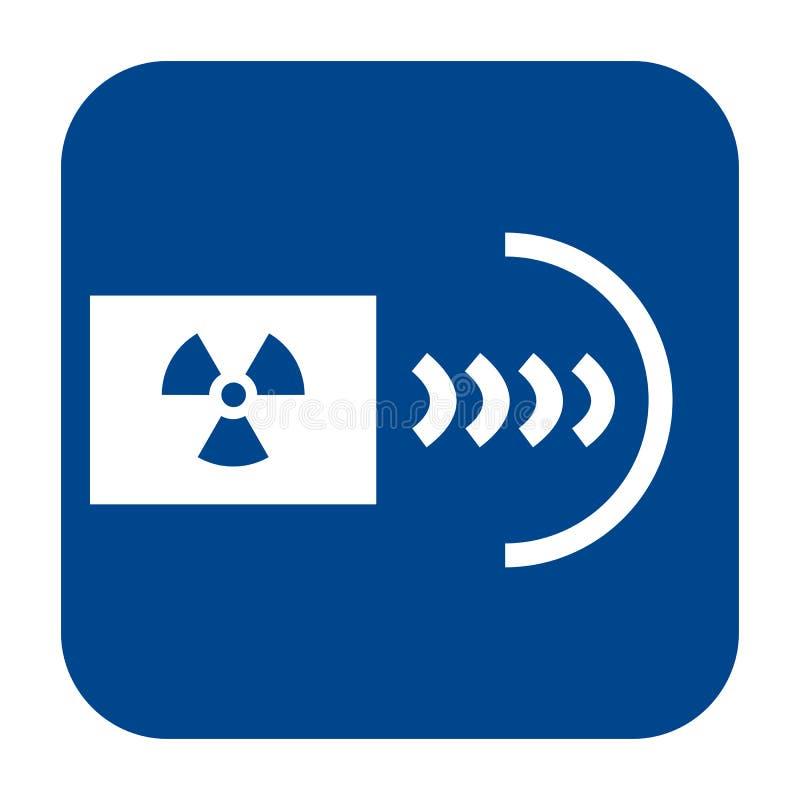 Flache Designikone des Vektors der industrieller Röntgenographie stock abbildung
