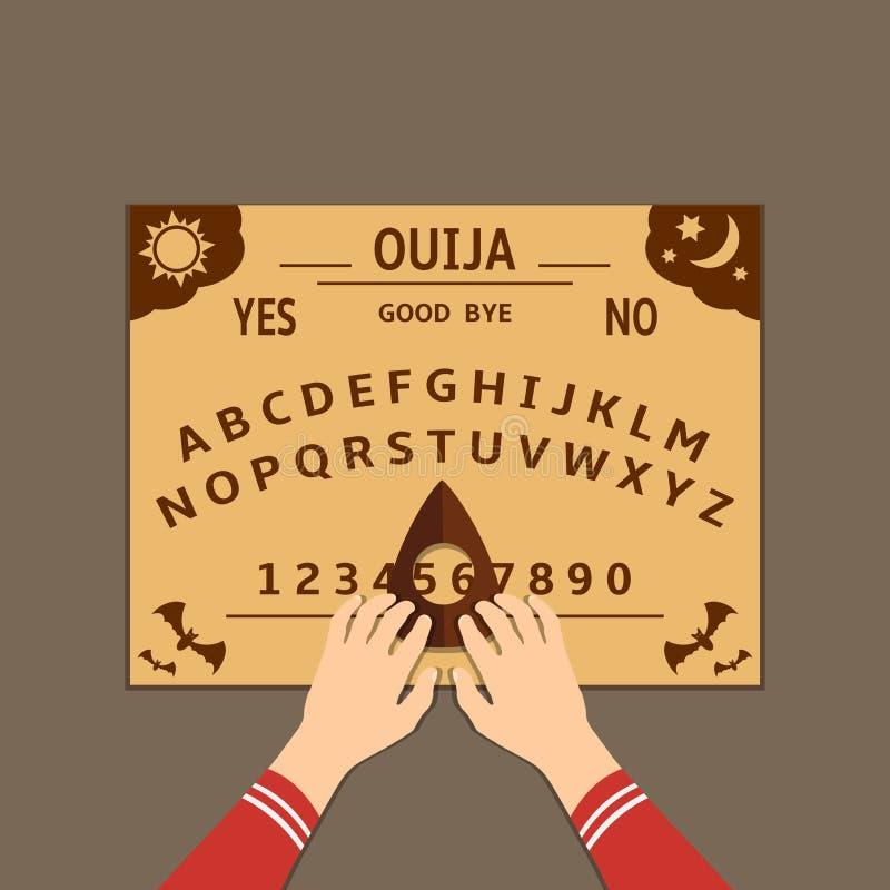 Flache Designillustration Ouija-Brettes stock abbildung