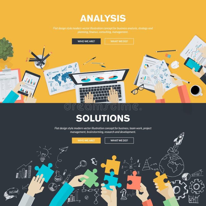 Flache Designillustrationskonzepte für Geschäft lizenzfreie abbildung