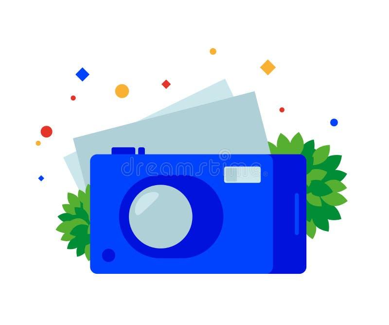 Flache Digitalkamera stock abbildung