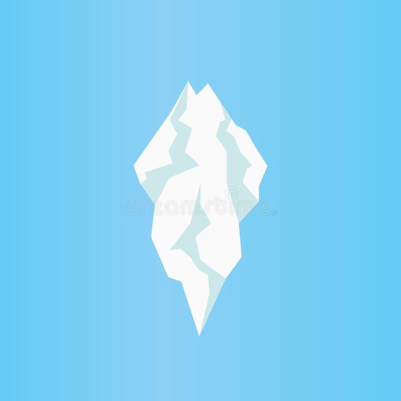 Flache Eisbergikone Lokalisierter Vektor des Eiszapfens lizenzfreie abbildung