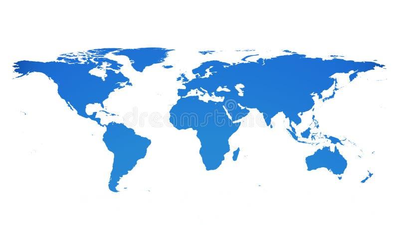 Flache Erde stock abbildung