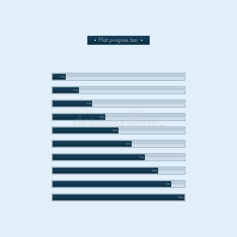 Flache Fortschritts-Stange stock abbildung