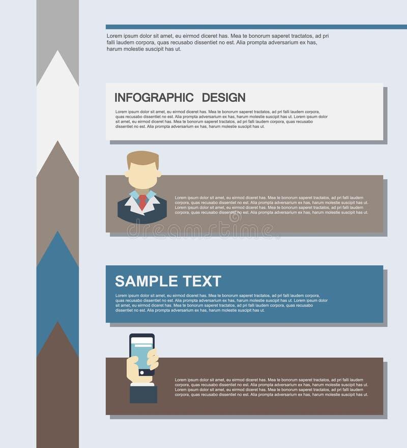 Flache Geschäft infographics Illustrationen stockfoto