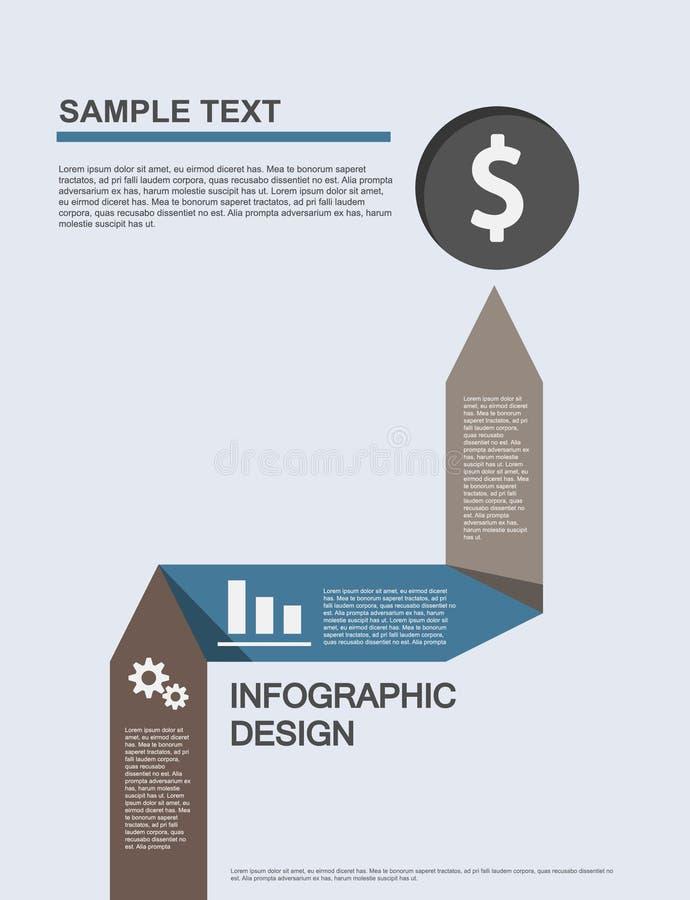 Flache Geschäft infographics Illustrationen stockbild