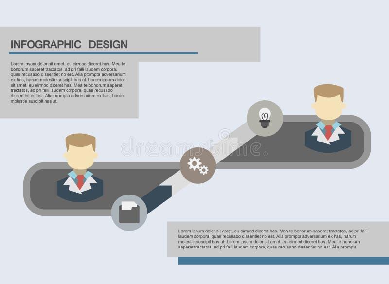 Flache Geschäft infographics Illustrationen lizenzfreies stockfoto