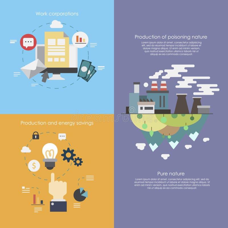 Flache Geschäft infographics Illustrationen stockbilder