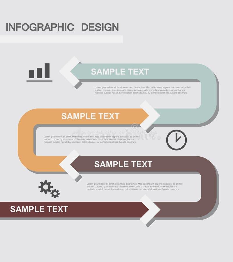 Flache Geschäft infographics Illustrationen stockfotografie