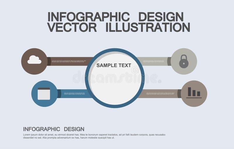 Flache Geschäft infographics Illustrationen lizenzfreie stockfotos
