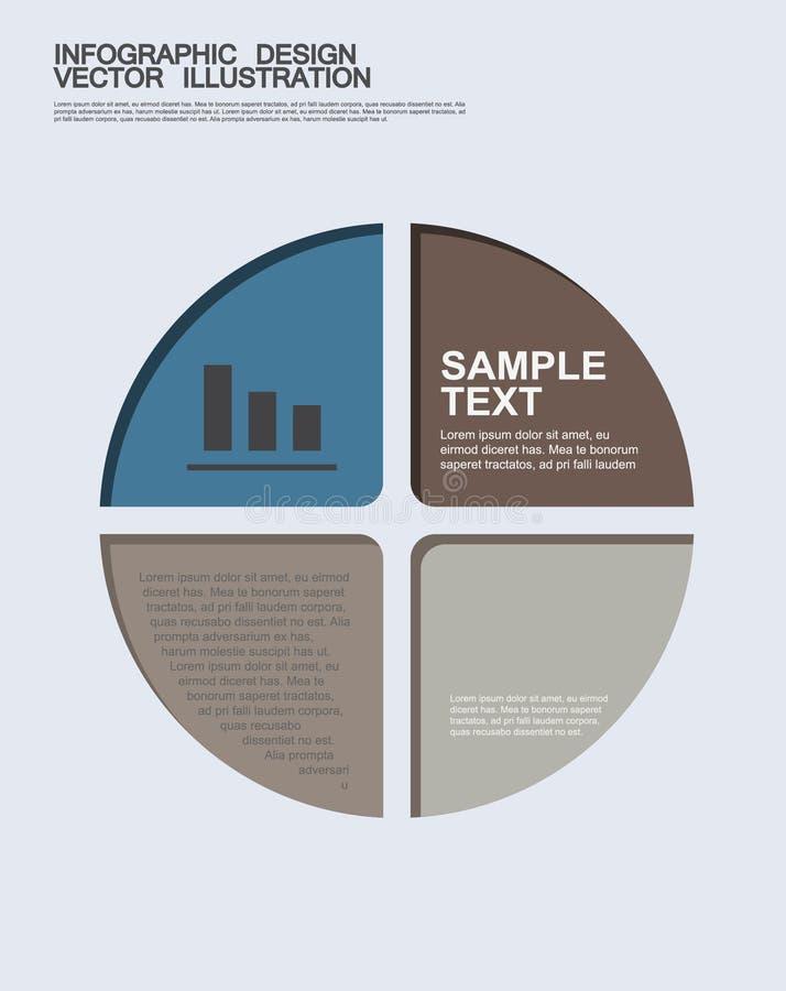Flache Geschäft infographics Illustrationen stockfotos