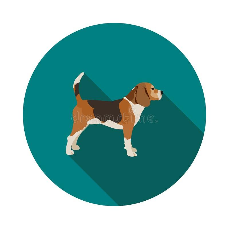 Flache Hundspürhundikone stock abbildung