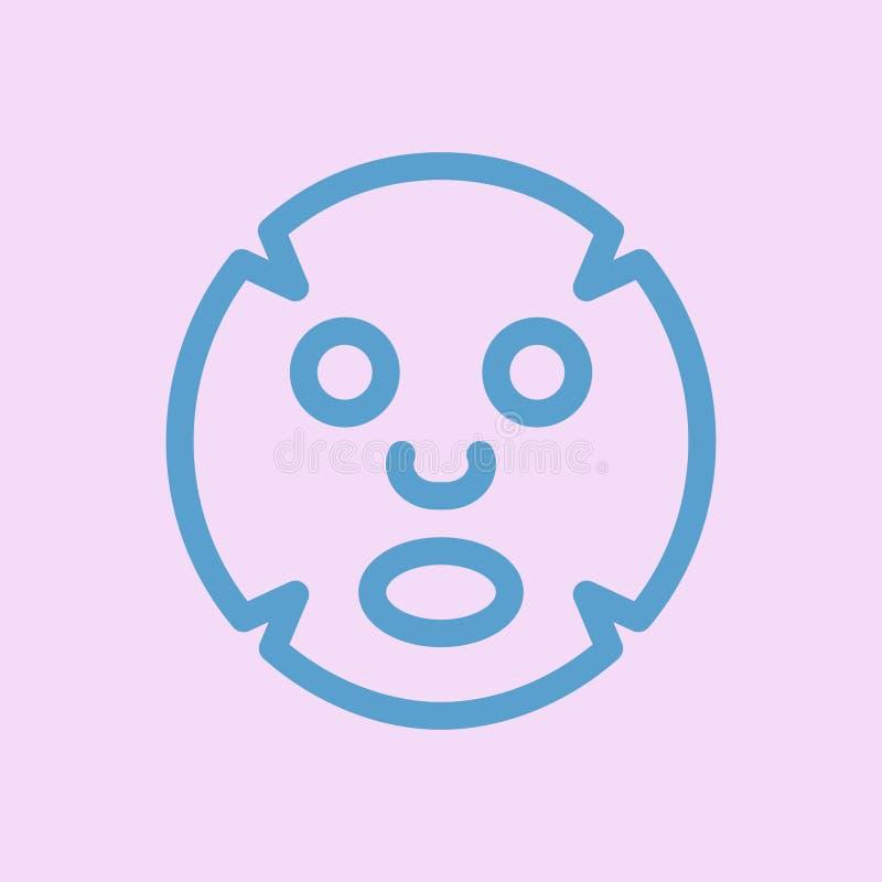Flache Ikone der Gesichtsmaske Medizin, Cosmetology und Gesundheitswesen stock abbildung