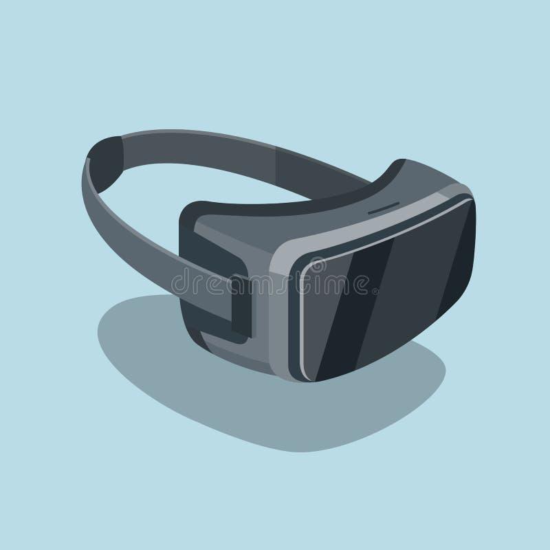 Flache Ikone der Gläser der virtuellen Realität lizenzfreie abbildung