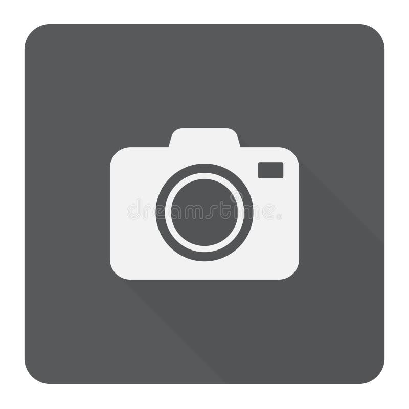 Flache Ikone der Kamera lizenzfreie stockfotografie